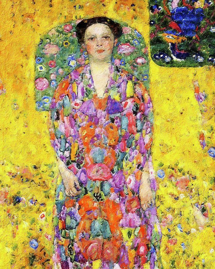 Portrait Of Eugenia Primavesi, 1913 After Gustav Klimt Painting