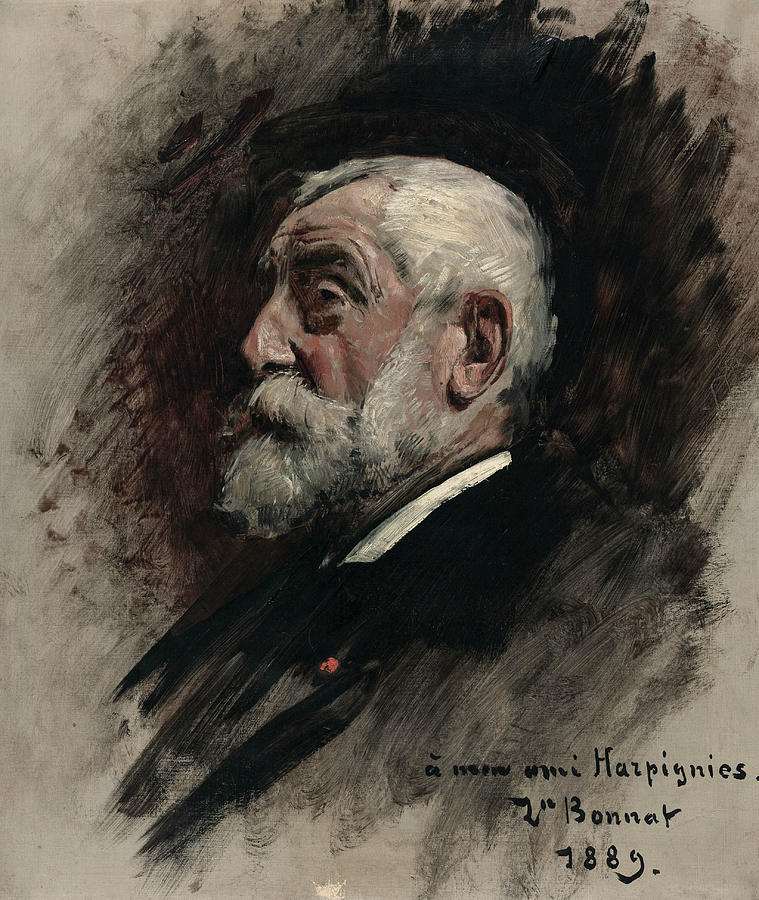 Portrait of Henri Harpignies by Leon Bonnat