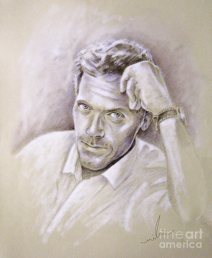 Portrait Of Hugh Laurie Drawing