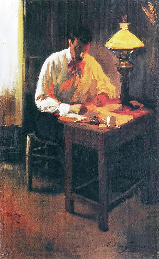 Portrait Of Josep Cardona Painting