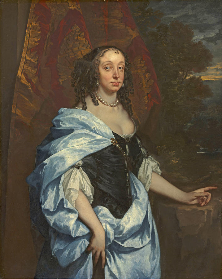 Peter Lely Painting - Portrait of Mrs. Leneve by Peter Lely
