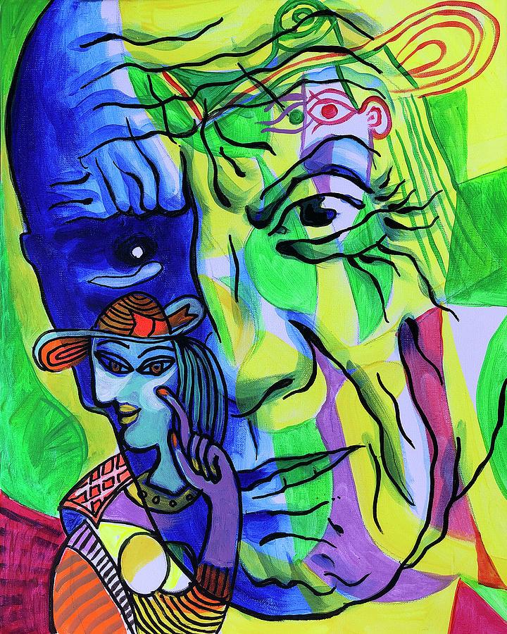 Portrait Of Pablo Picasso Painting