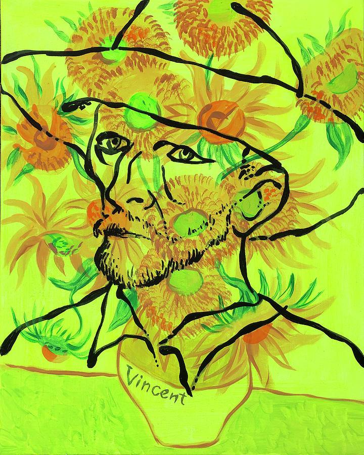 Portrait Of Vincent Van Gogh Painting
