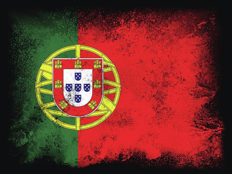 Portugal Flag Digital Art