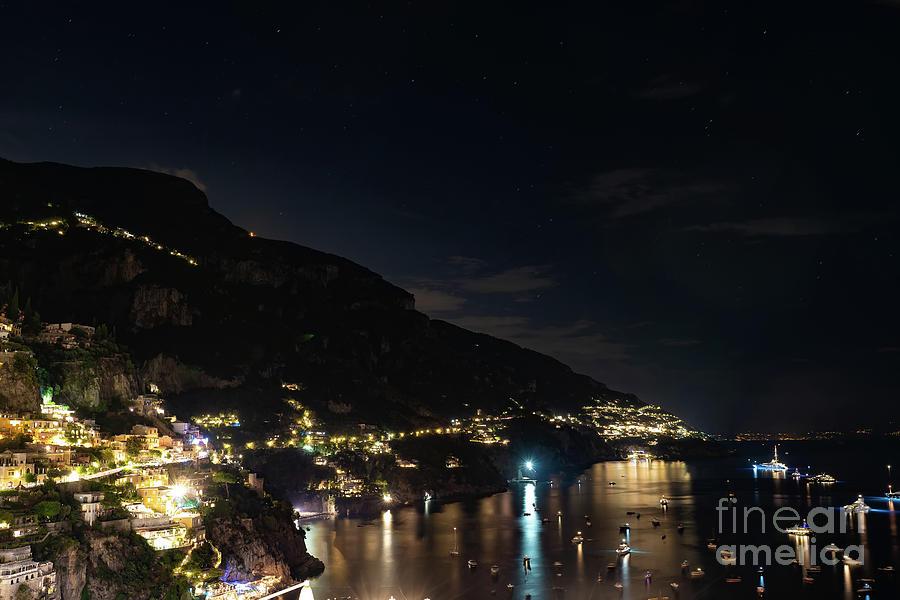 Positano Photograph - Positano Lights by Kasra Rassouli