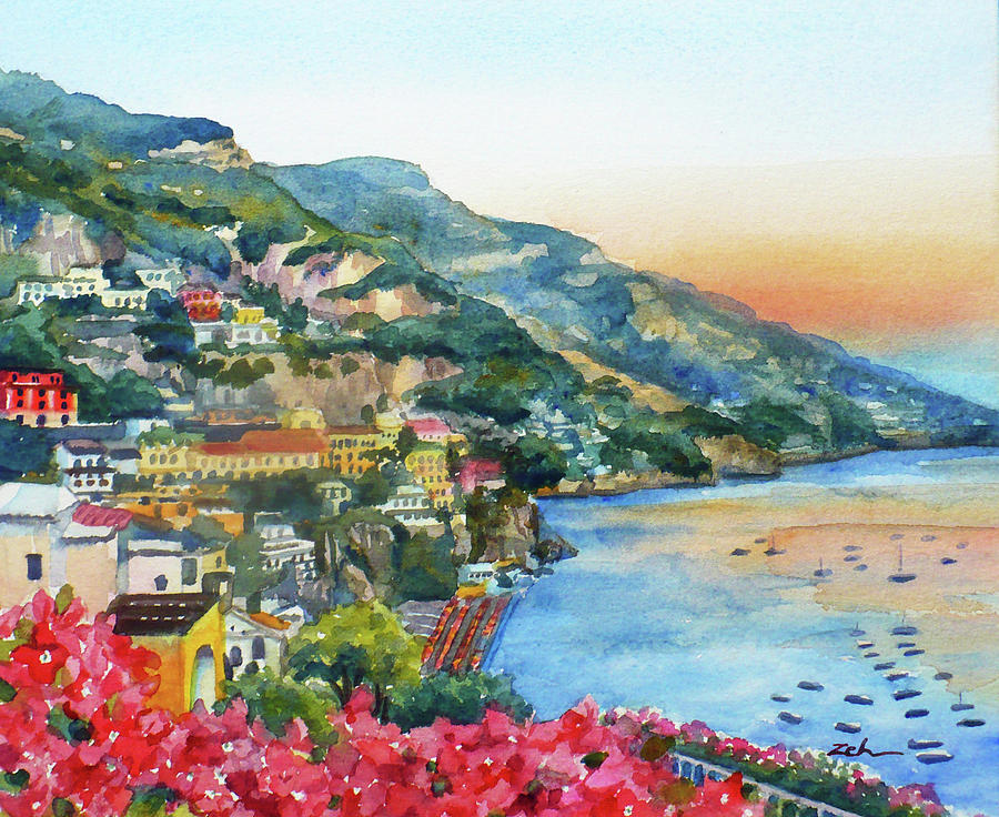 Positano Sunset by Janet Zeh