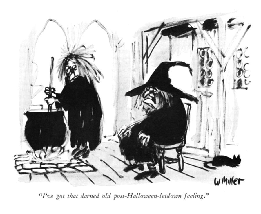 Post Halloween Letdown Drawing by Warren Miller