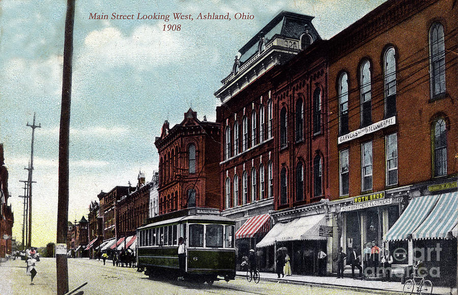 Postcard Of Ashland Ohio In 1908 Painting