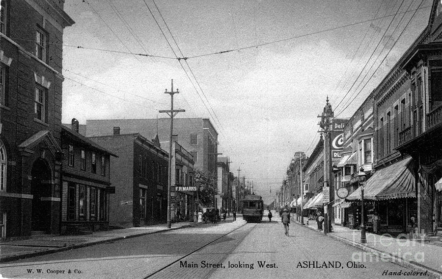 Postcard Of Ashland Ohio In 1912 Photograph