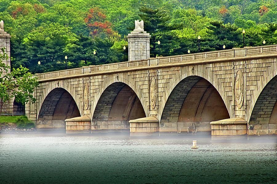 Potomac Bridge Mist Photograph