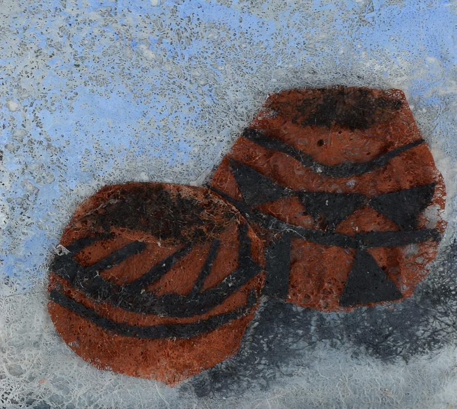 Pottery Mixed Media - Pots by Charla Van Vlack