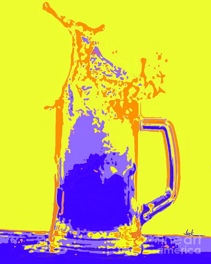 Beer Painting - Pour Me One by Jack Bunds