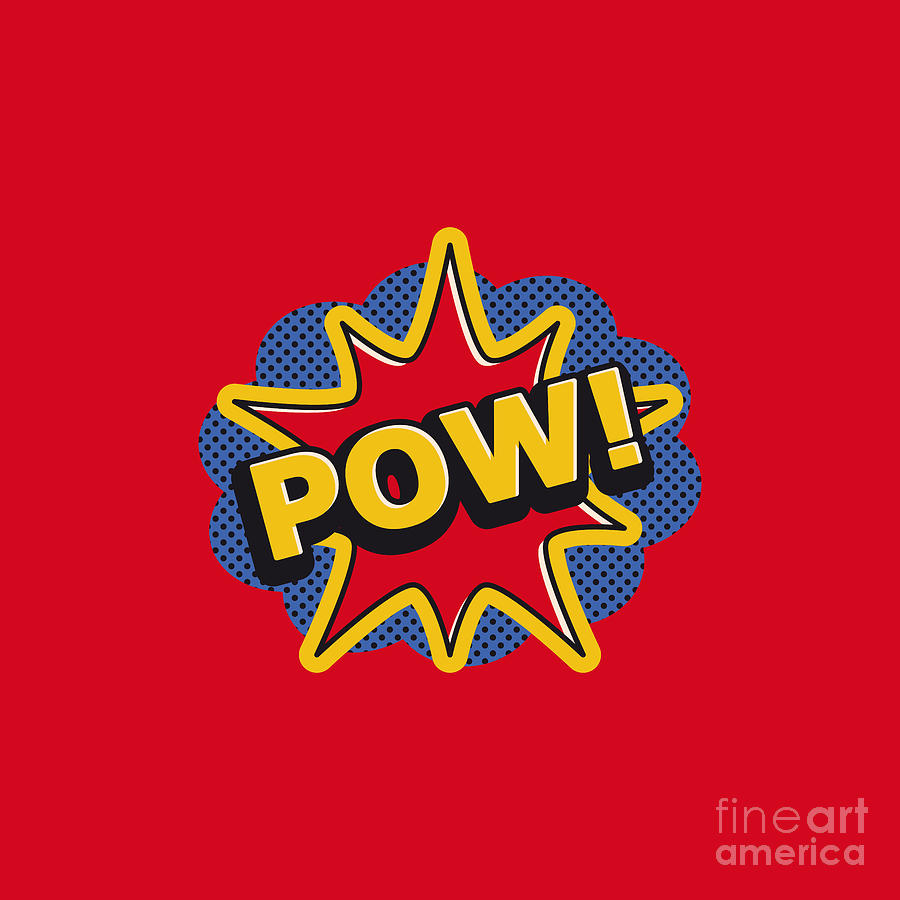 Pow Comic Explosion Digital Art