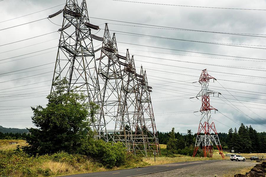 Power from Bonneville Dam by Tom Cochran