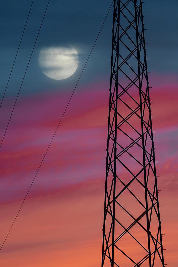 Power Line Pyloon Photograph