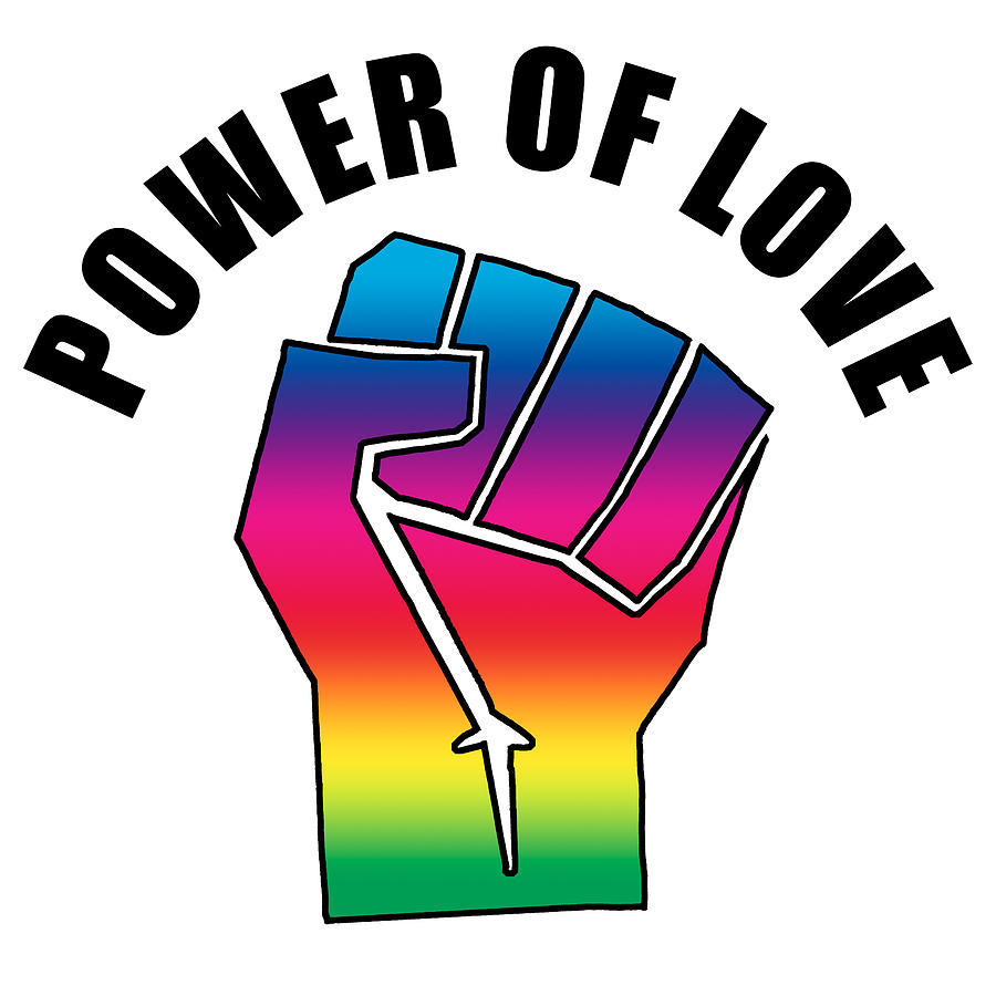 Power Of Love Fist, Power Of Peace, Social Justice Warrior Rainbow Spectrum, Super Sharp Png Drawing