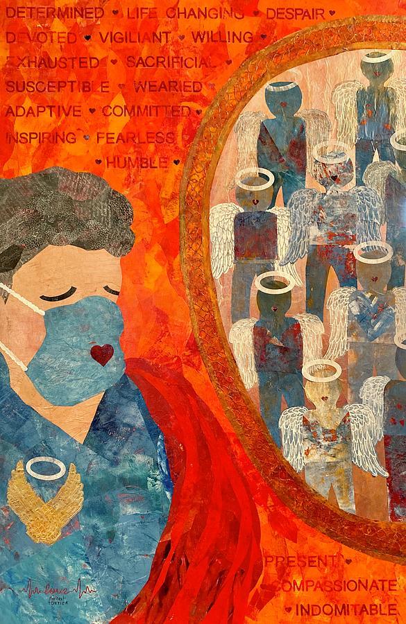 Nursing Painting - Power of Nursing Through Despair by Forrest Fortier