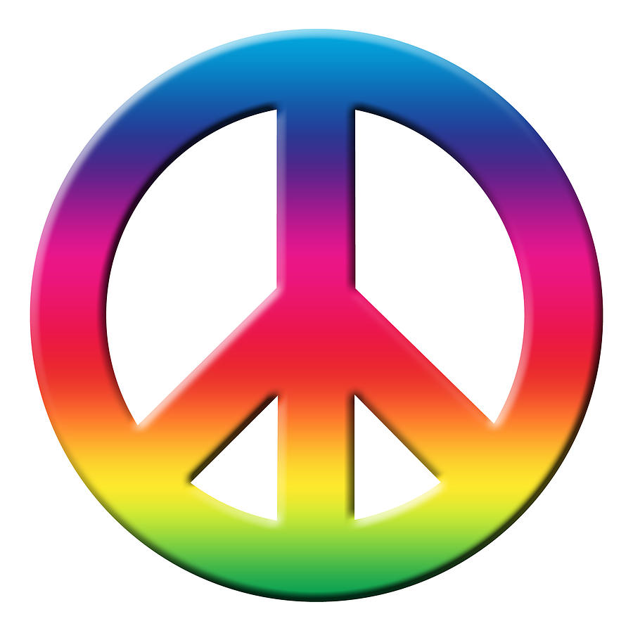 Power Of Peace, Power Of Love, Peace Sign Social Justice Warrior Rainbow Spectrum, Super Sharp Png Drawing