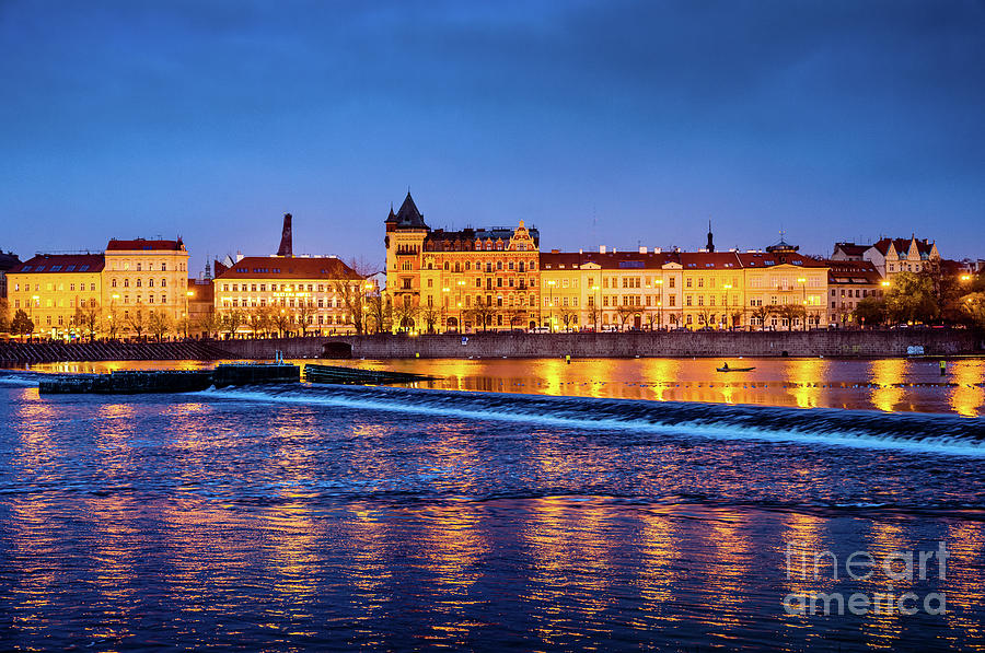 Prague River at Sunset 1 by Miles Whittingham