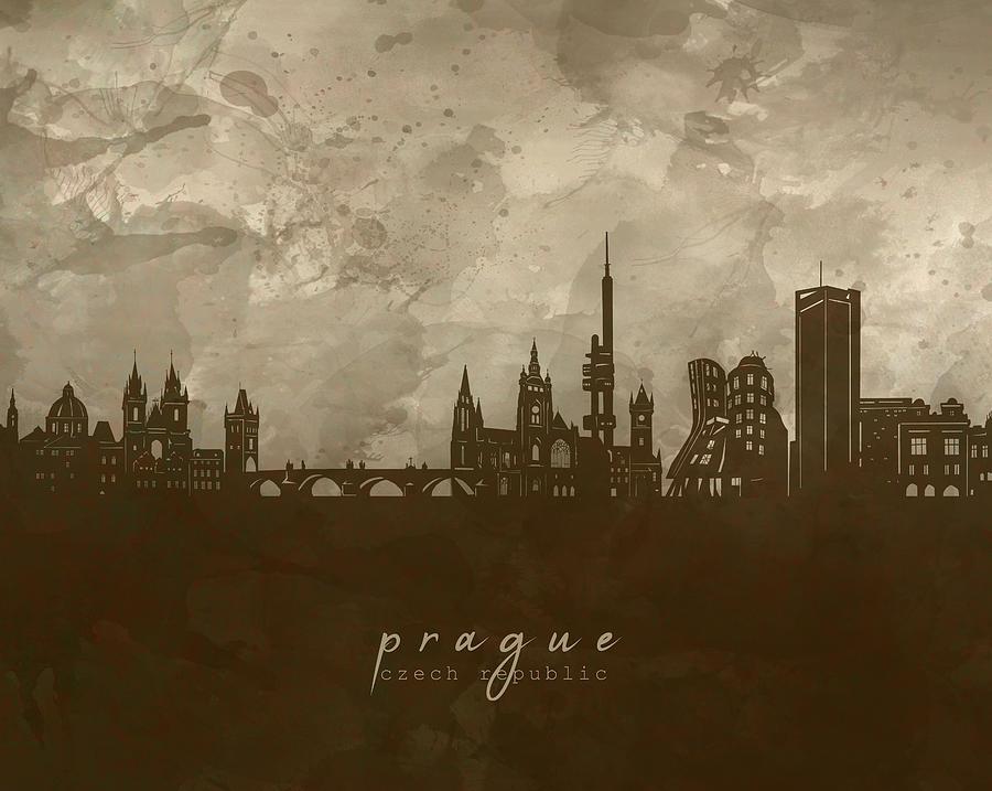 Prague Skyline Panorama 4 Digital Art
