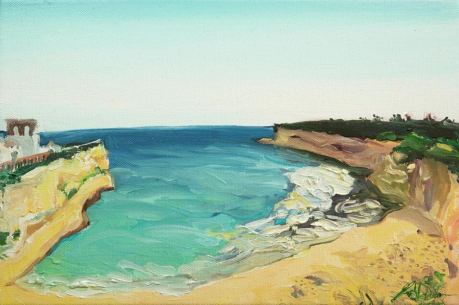 Plein Air Painting - Praia Nova Portugal by Joseph Demaree