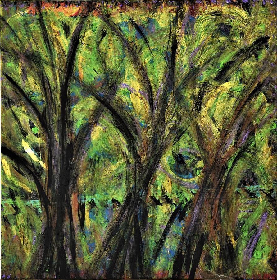 Fall Painting - Prairie Gusting by Pam Roth OMara