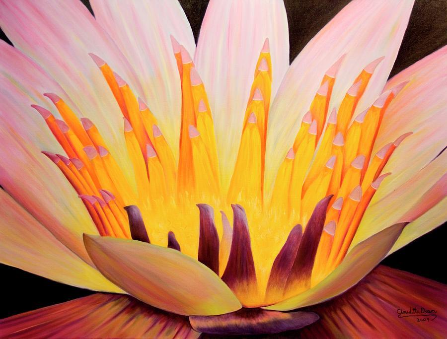 Lotus Painting - Prayer Circle by Claudette Dean