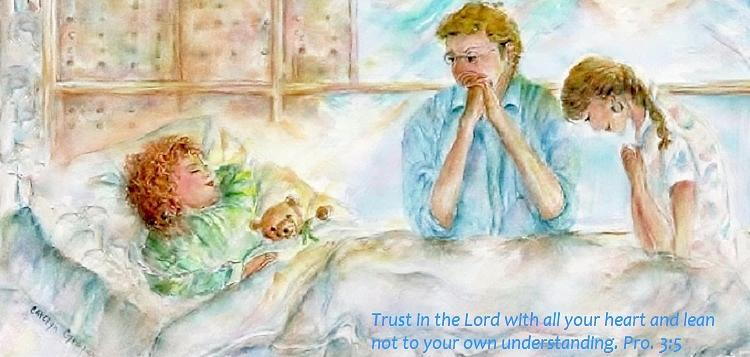 Prayer - Couple Praying Painting - Expecting A Miracle Painting