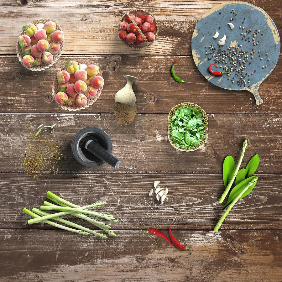 Preparing For Dinner Still Life Art by Johanna Hurmerinta