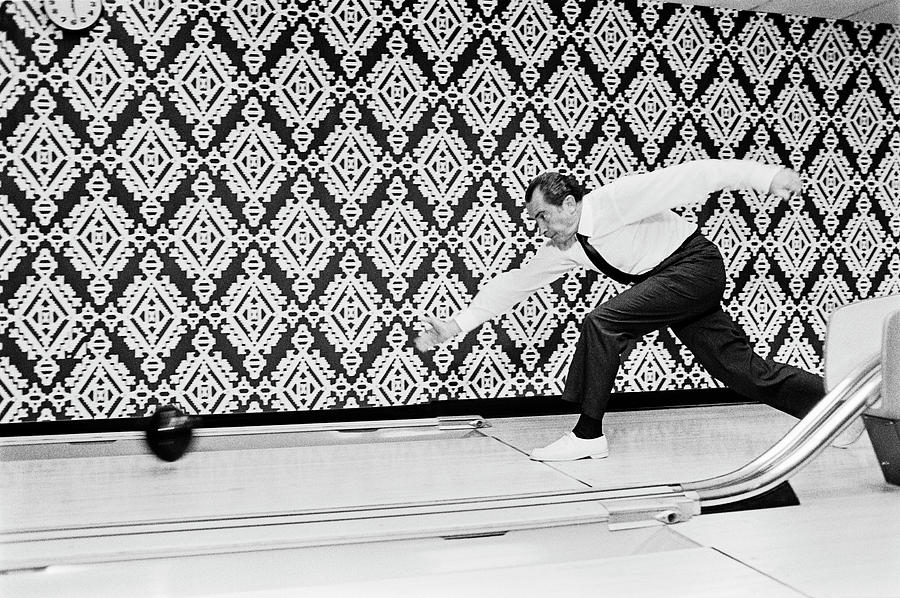 President Richard Nixon Bowling - 1971 by War Is Hell Store