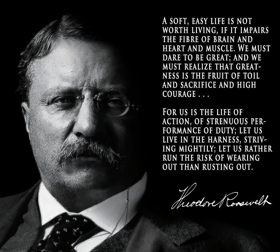 Theodore Roosevelt We Must Dare Poster Print Picture or Framed Wall Art