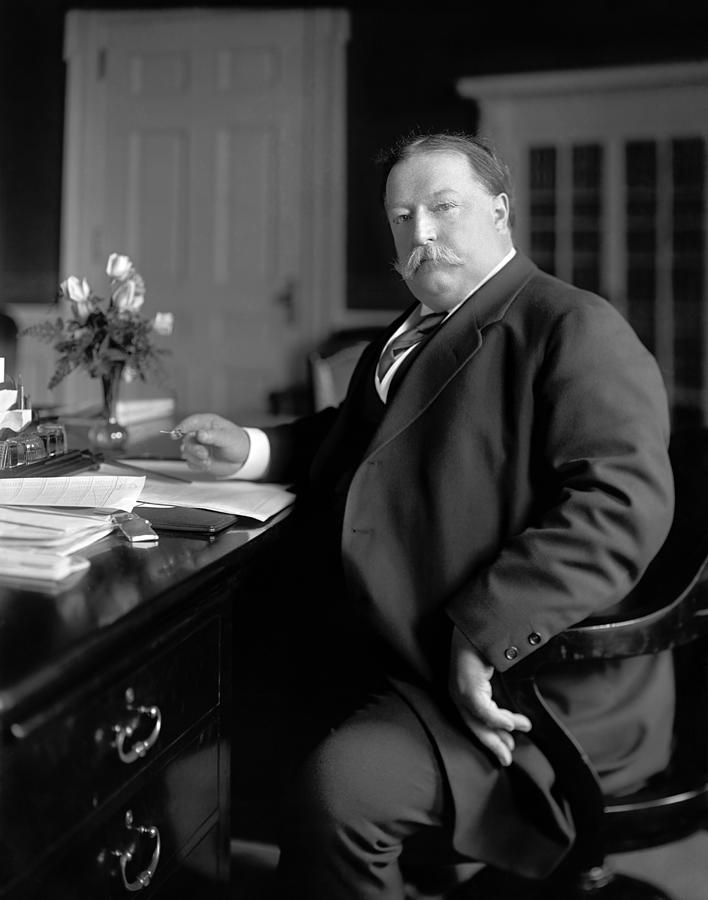President William Howard Taft At His Desk - Circa 1910 Photograph by War Is  Hell Store