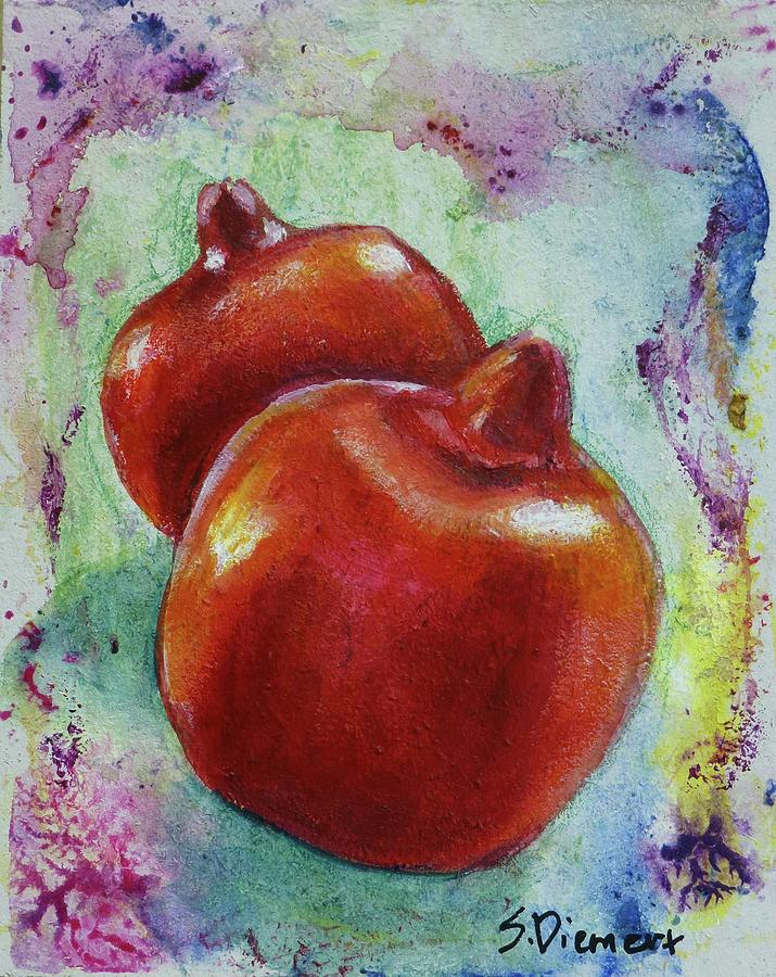 Pretty As A Picture Pomegranates Painting