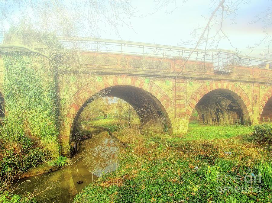 Bridge Photograph - Pretty Down By The Railway Bridge by Leigh Kemp