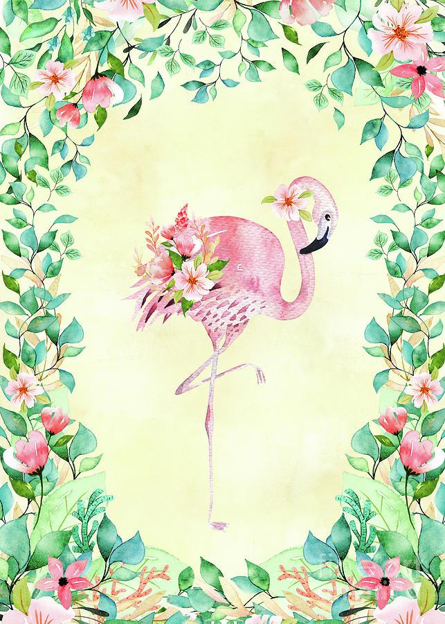 Pretty Flamingo Mixed Media