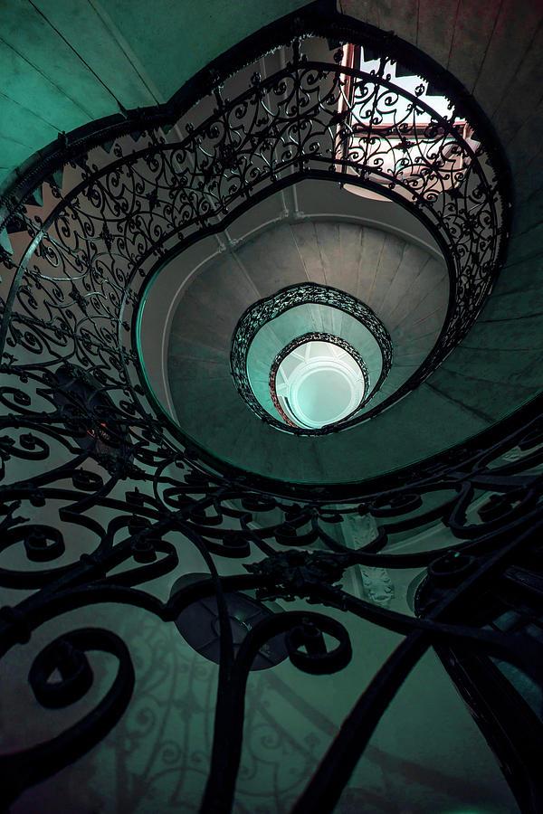 Pretty ornamented staircase by Jaroslaw Blaminsky