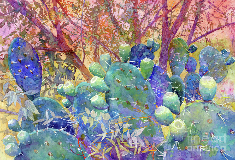 Prickly Patch-pastel Colors Painting