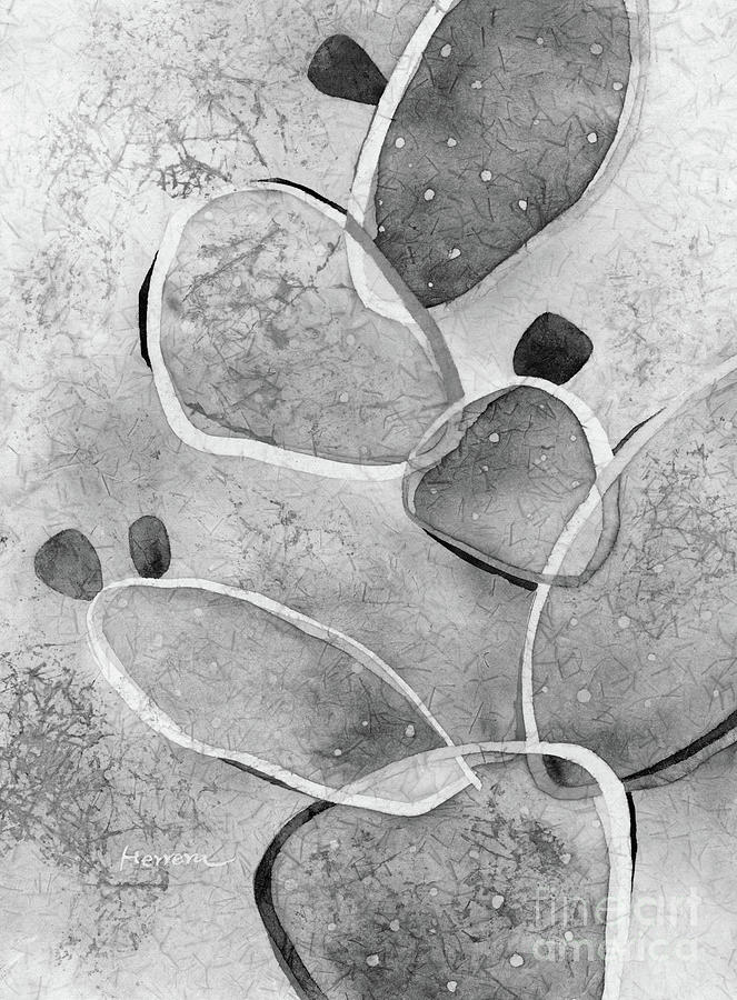 Prickly Pizazz 1 In Black And White Painting