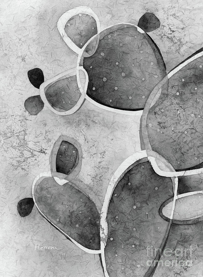 Prickly Pizazz 4 In Black And White Painting