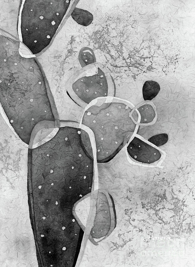 Prickly Pizazz 5 In Black And White Painting