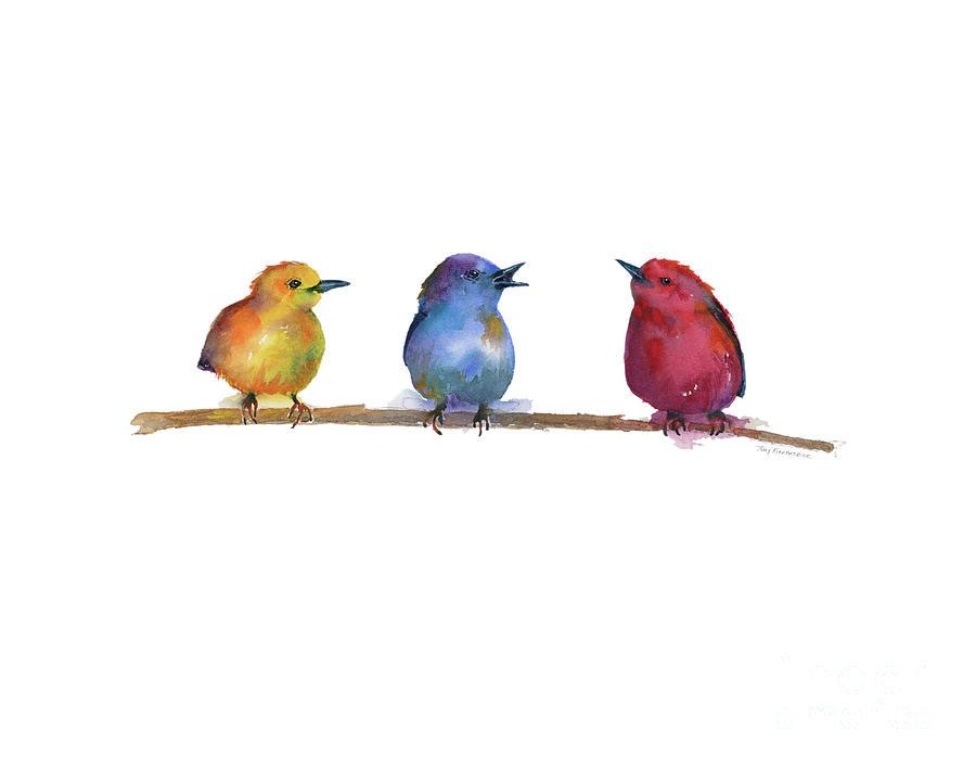 Primary Chicks Painting