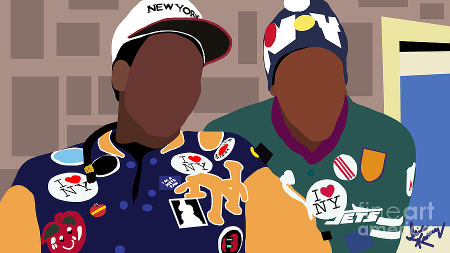 Isis Kenney Digital Art - Prince Akeem and Semmi by Isis Kenney