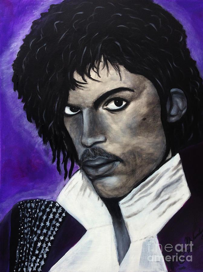 Celebrities Painting - Prince by Jacqueline Melendez