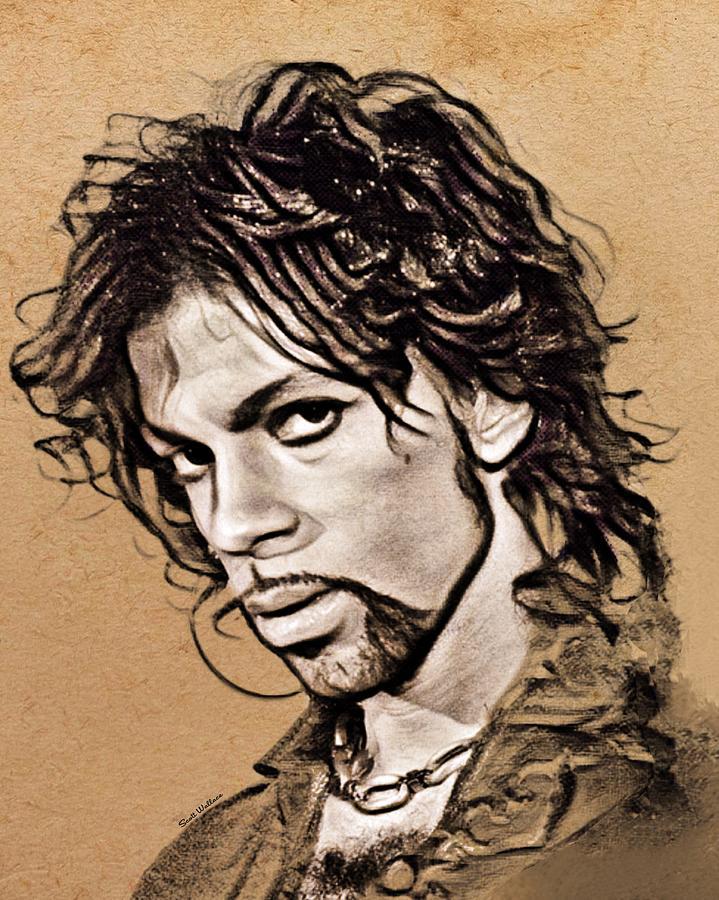 Prince Sketch Portrait Digital Art