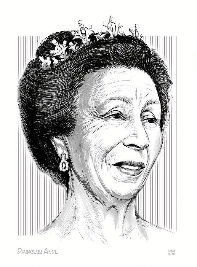 Princess Anne - Line Art Digital Art