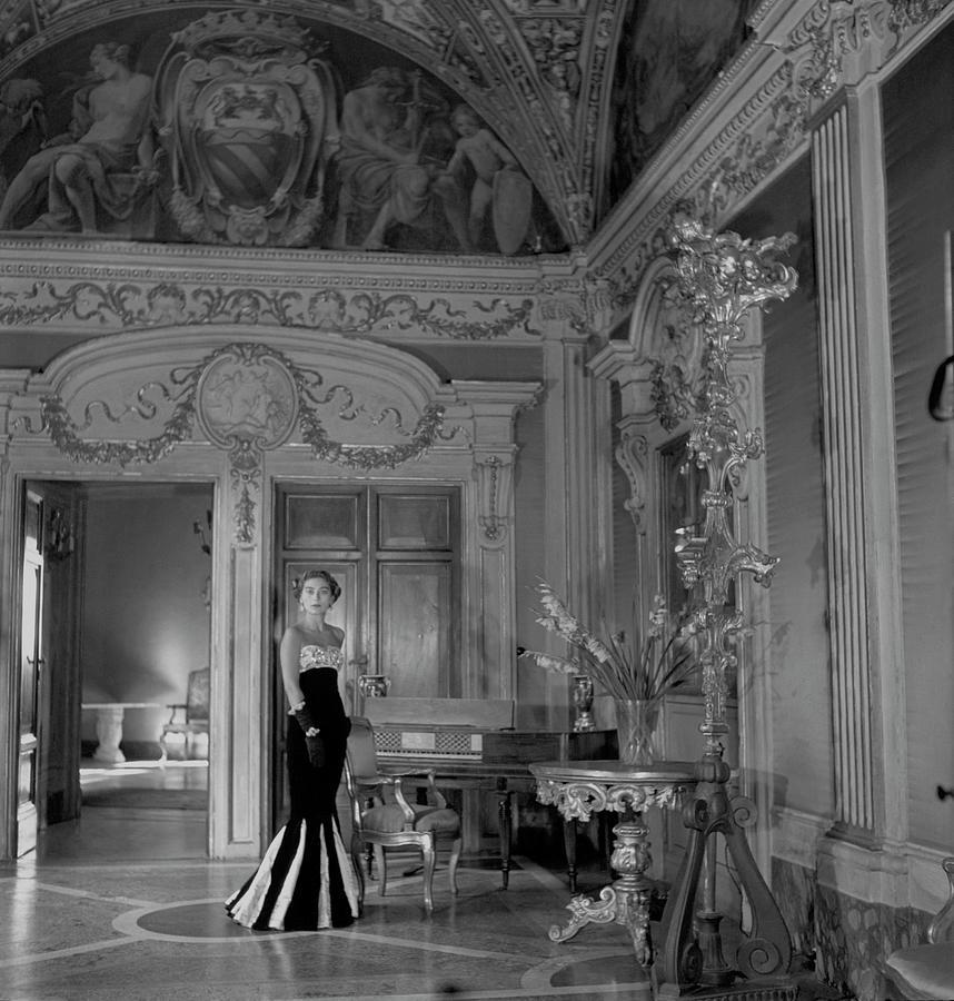 Princess del Drago in the Palazzo Orsini Photograph by Clifford Coffin