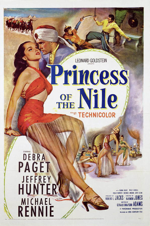 princess Of The Nile, With Debra Paget, 1954 Mixed Media