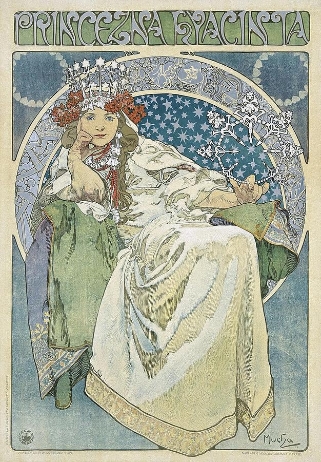 Art Nouveau Architecture Painting - Princezna Hyacinta 1911 Art Nouveau Poster by Alphonse Mucha