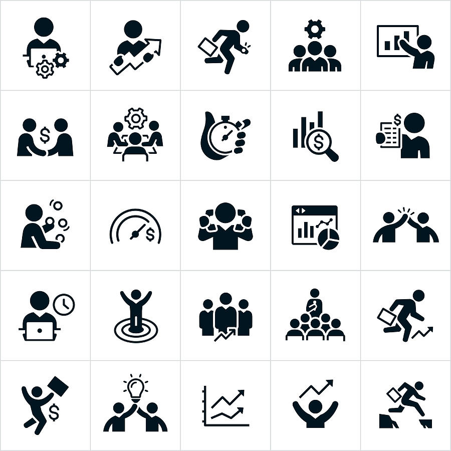Productivity Icons Drawing by Appleuzr