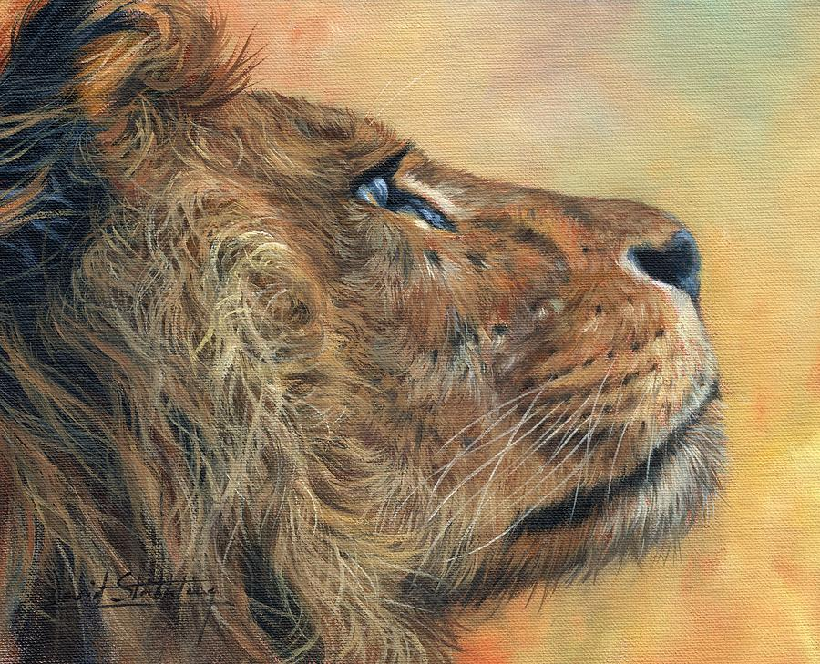 Profile Of A Lion Painting